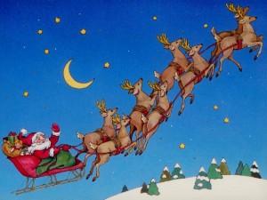 Santa-In-Sleigh