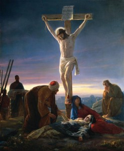 Jesus nailed on the cross
